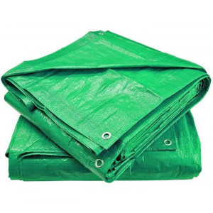 Тент Тарпаулин Зеленый/Серебро 120 г/м2