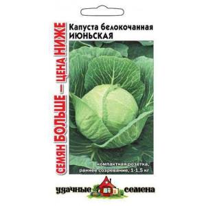 Капуста белокочанная ИЮНЬСКАЯ Уд.с. семян больше Гавриш