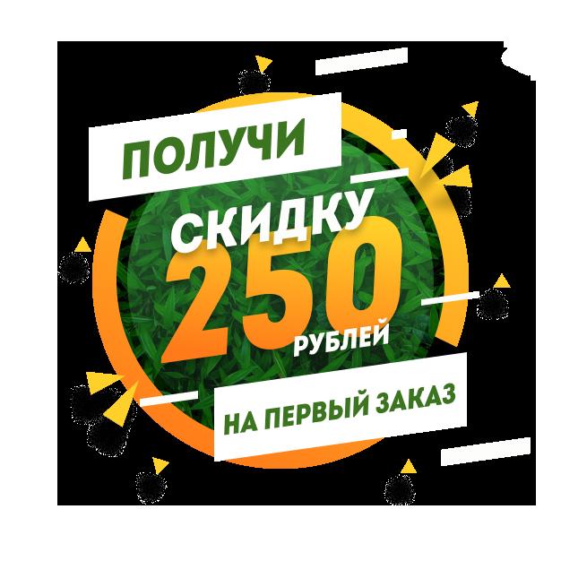 Скидка 250 руб. при регистрации на сайте